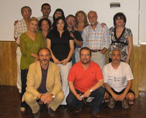 Paco, consuelo, Benjamín, Blanca, Sara, Amparo, Alonso, Ana, Julio, Rosario, Rafel, Ferreiro y Paco, el marido de Rosario