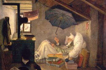 """El poeta pobre"" de Carl Spitzweg"