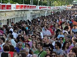 Instantánea de la Feria del Libro de Madrid.