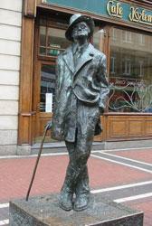 Estatua de James Joyce. Dublín, Irlanda.
