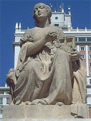 Estatua Dulcinea Plaza de España. Madrid